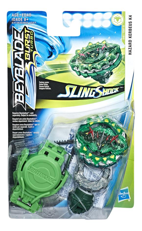Image pour Beyblade Burst Turbo SlingShock Starter Pack - Hazard Kerbeus K4 à partir de ColliShop