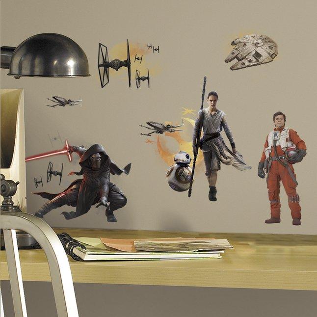 Afbeelding van Muurstickers Star Wars VII Full Cast from ColliShop
