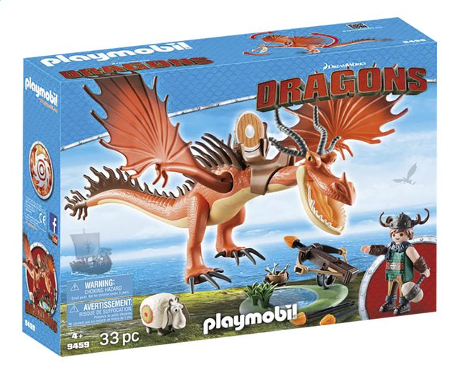 PLAYMOBIL Dragons 9459 Rustik et Krochefer