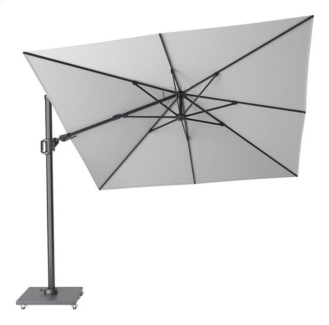 Platinum parasol suspendu Challenger T2 aluminium 3 x 3 m Blanc