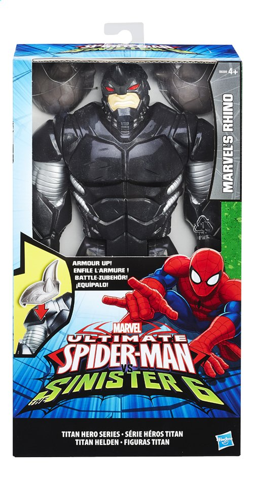 Afbeelding van Hasbro Figuur Ultimate Spider-Man vs The Sinister 6 Marvel's Rhino met pantser from ColliShop