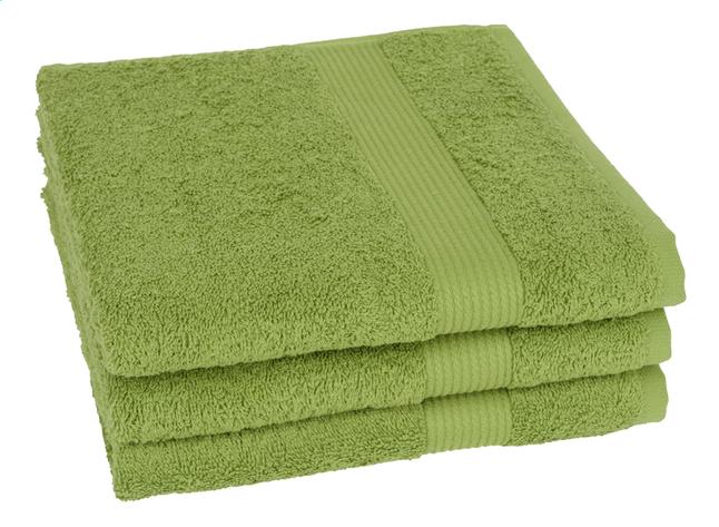 Afbeelding van Jules Clarysse 3 handdoeken 50 x 100 cm Max Havelaar groen from ColliShop