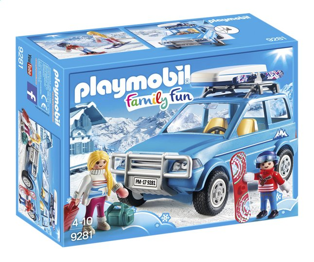Afbeelding van PLAYMOBIL Family Fun 9281 4x4 met dakkoffer from ColliShop