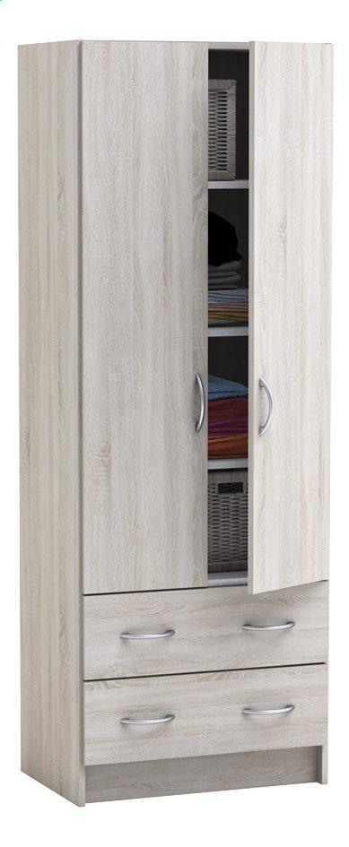 Afbeelding van Demeyere Meubles Kleerkast met 2 deuren en 2 laden Dual eikdecor from ColliShop