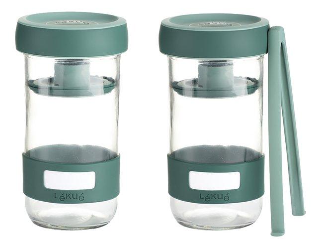 Afbeelding van Lékué 2 glazen flessen Pickles Kit 70 cl voor het fermenteren van groenten from ColliShop