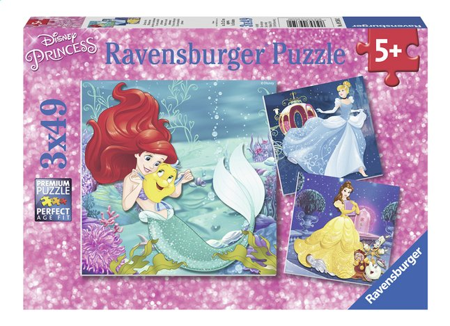 Image pour Ravensburger puzzle 3 en 1 Disney Princess Aventures des princesses à partir de ColliShop