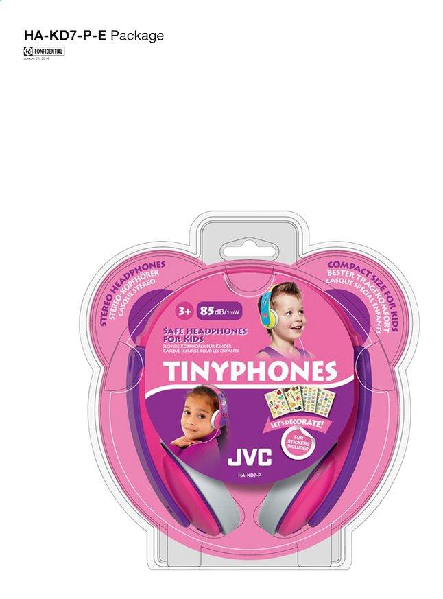 Image pour JVC casque Tinyphones HA-KD7-P rose à partir de ColliShop