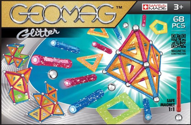 Geomag Glitter 68 pièces