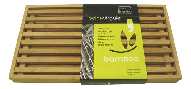 Afbeelding van Point-Virgule Bamboo broodplank 42,5 x 23 cm from ColliShop
