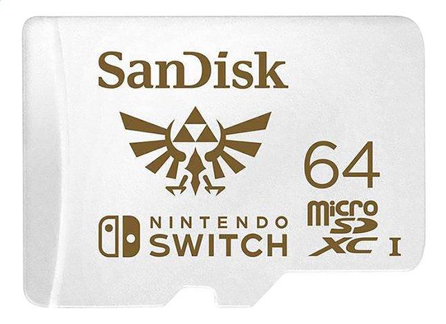 SanDisk carte mémoire microSDXC pour Nintendo Switch 64 Go
