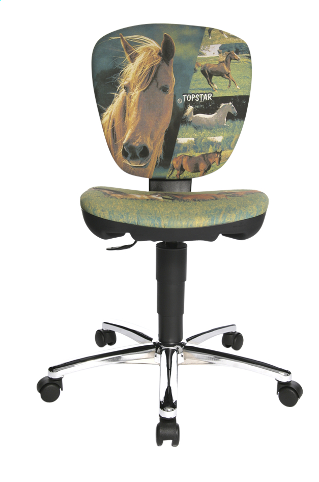 Image pour Topstar chaise de bureau pour enfants Kiddi Star Horses light à partir de ColliShop