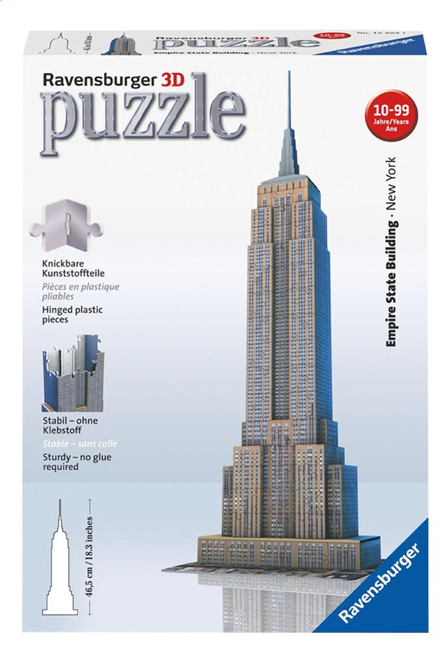 Afbeelding van Ravensburger 3D-puzzel Empire State Building from ColliShop