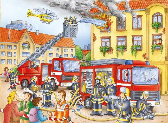 Image pour Ravensburger puzzle Nos pompiers à partir de ColliShop