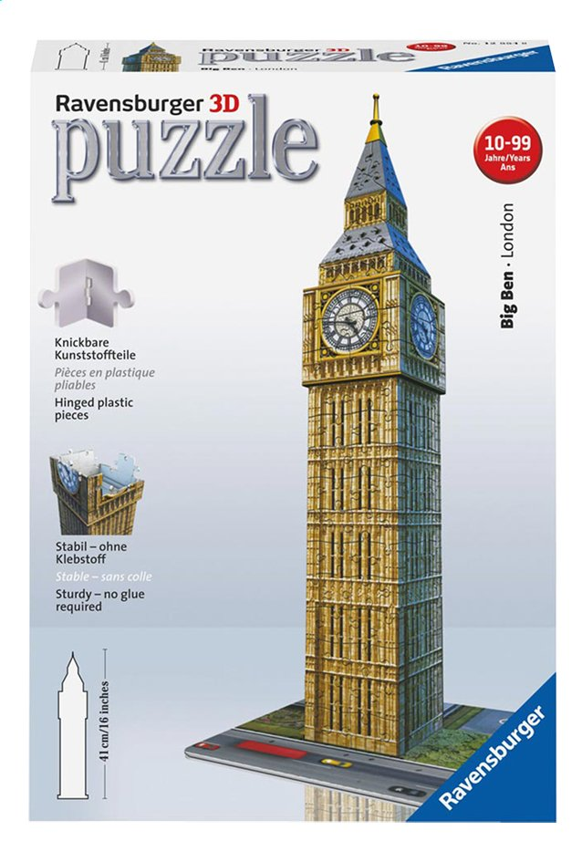 Afbeelding van Ravensburger 3D-puzzel Big Ben from ColliShop