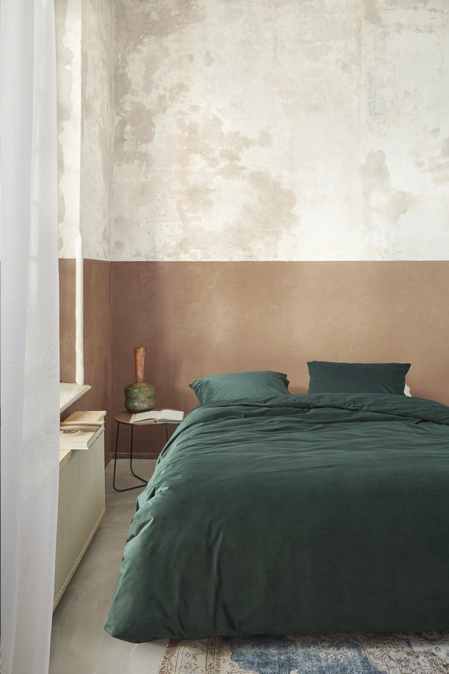 Afbeelding van At Home with Marieke Dekbedovertrek Tender green 200 x 220 cm from ColliShop