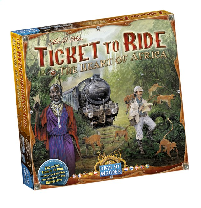 Afbeelding van Ticket to Ride uitbreiding: The Heart of Africa from ColliShop