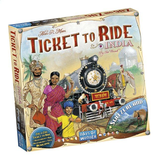 Ticket to Ride uitbreiding: India en Zwitserland