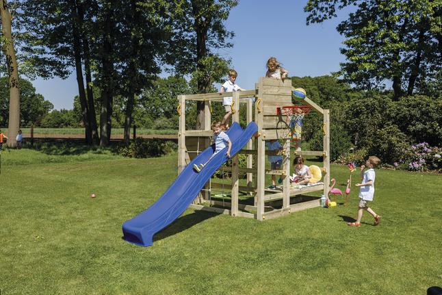 Image pour Blue Rabbit tour de jeu en bois Crossfit avec toboggan bleu à partir de ColliShop