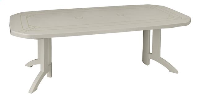 Image pour Grosfillex table de jardin à rallonge Vega blanc L 160 x Lg 100 cm à partir de ColliShop