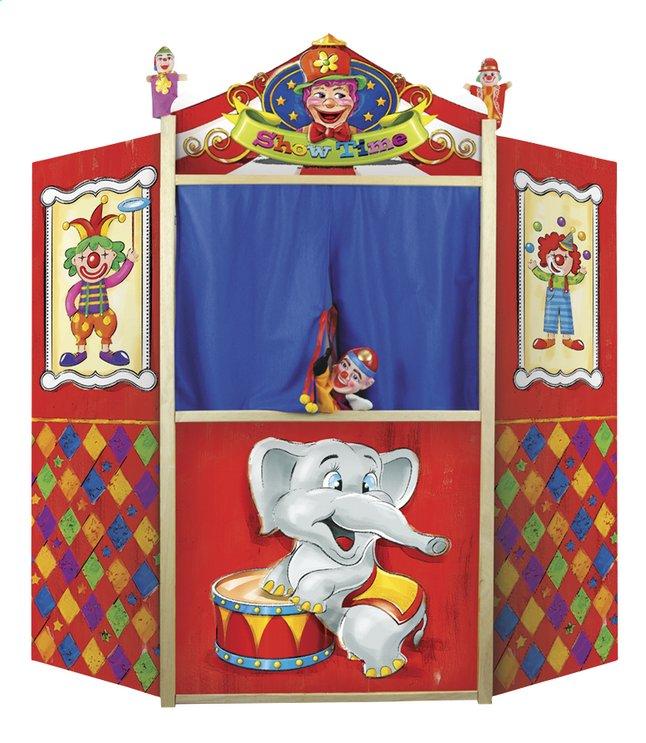 Image pour Théâtre de marionnettes en bois avec 2 marionnettes à doigts à partir de ColliShop