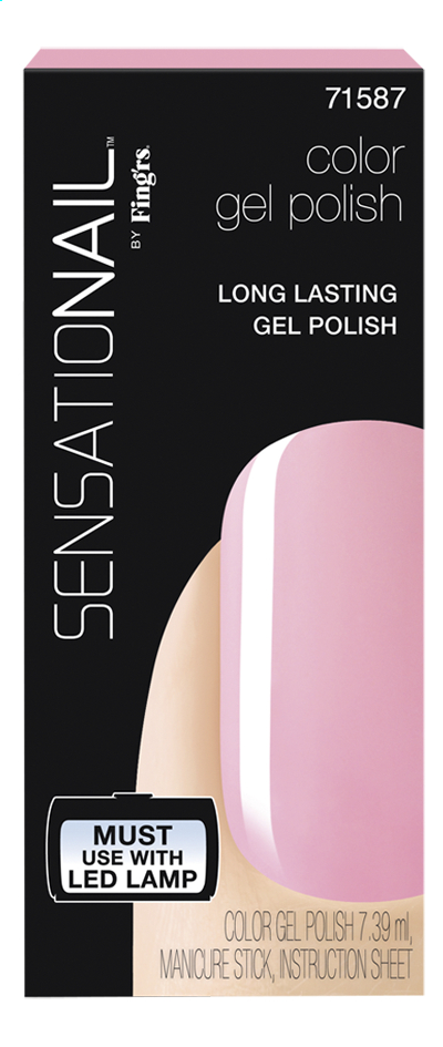 Afbeelding van SensatioNail Gel Polish Pink Chiffon from ColliShop