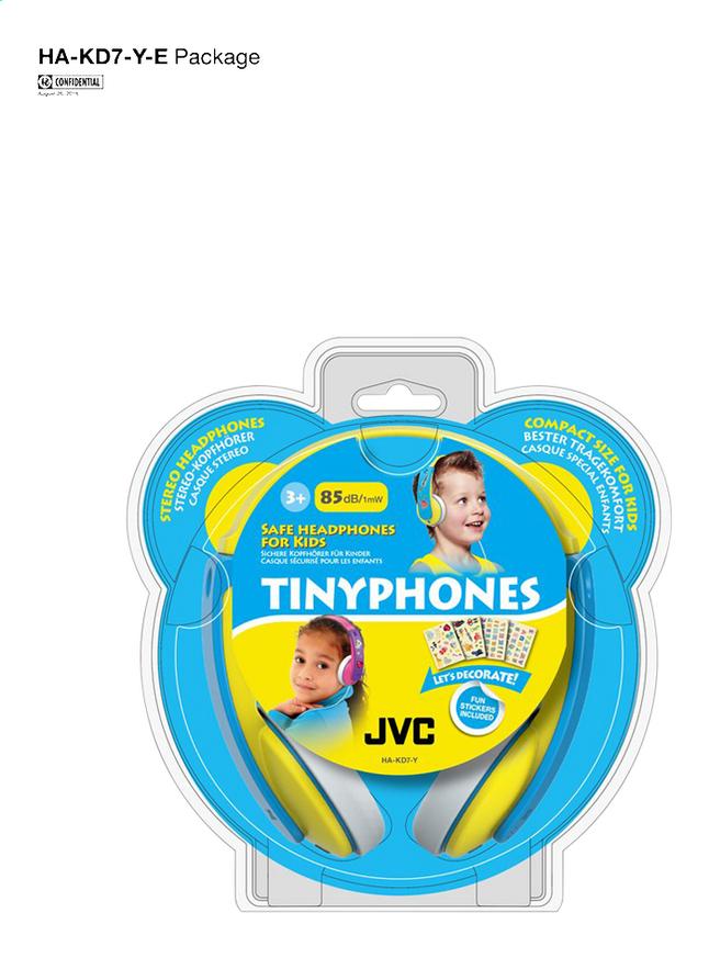 Afbeelding van JVC hoofdtelefoon Tinyphones HA-KD7-Y geel from ColliShop