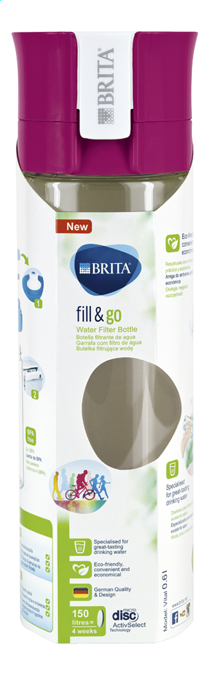 Afbeelding van Brita Drinkbus Fill & Go Vital 0.6 l pink from ColliShop