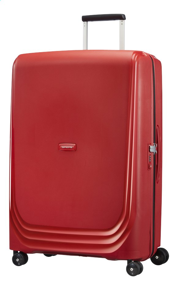 Afbeelding van Samsonite Harde reistrolley Optic Spinner red 75 cm from ColliShop