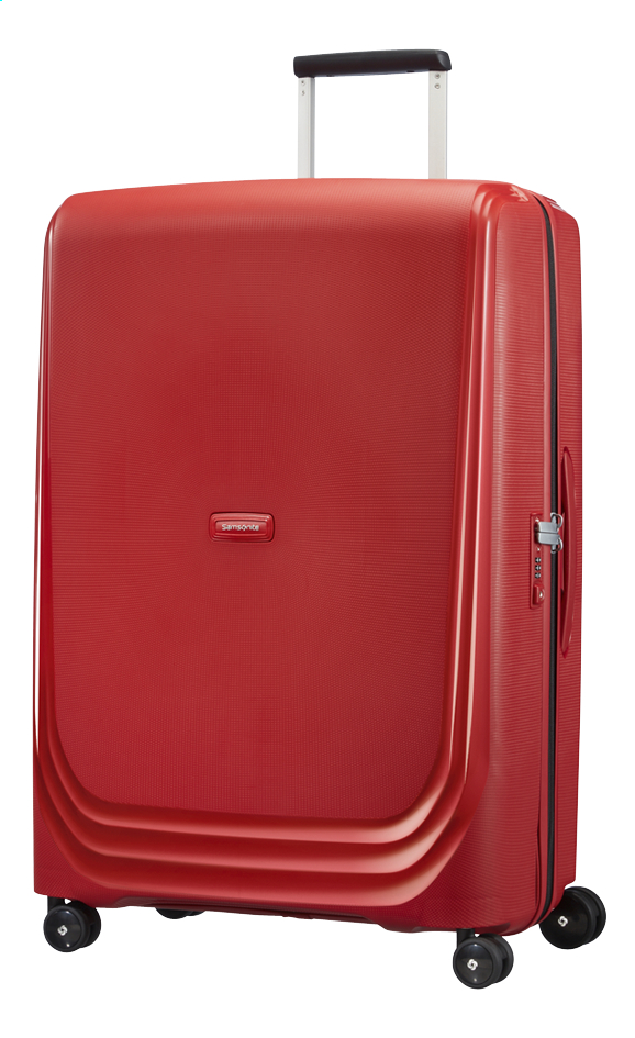 Image pour Samsonite Valise rigide Optic Spinner red 75 cm à partir de ColliShop