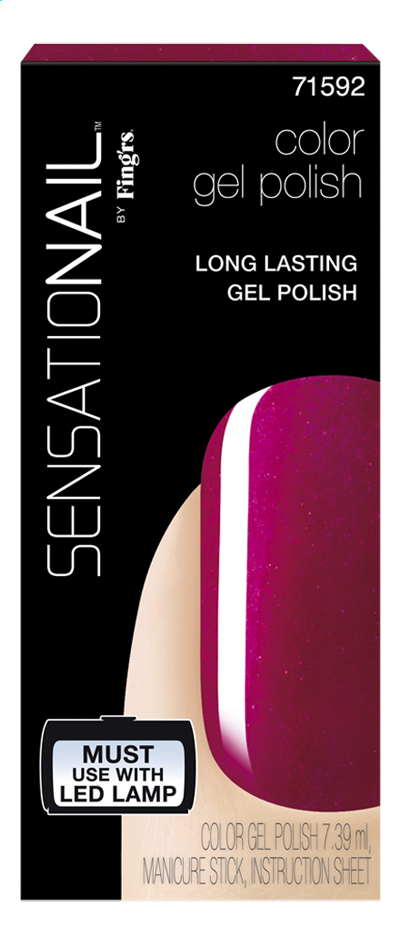 Image pour SensatioNail Gel Polish raspberry wine à partir de ColliShop