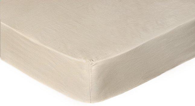 Image pour Sleepnight Drap-housse pour surmatelas hauteur des coins 15 cm café au lait en coton 140 x 200 cm à partir de ColliShop