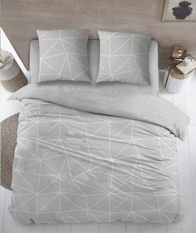 Image pour Housse de couette Denmark grey coton 270 x 220 cm à partir de ColliShop