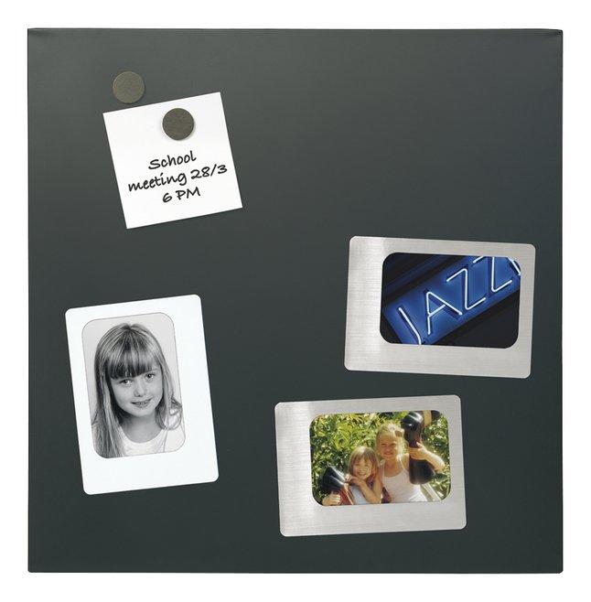 Afbeelding van Naga glazen memobord 45 x 45 cm zwart from ColliShop