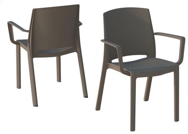 Image pour Grosfillex chaise de jardin Milton taupe à partir de ColliShop