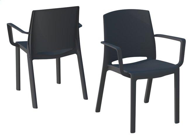 Image pour Grosfillex chaise de jardin Milton anthracite à partir de ColliShop