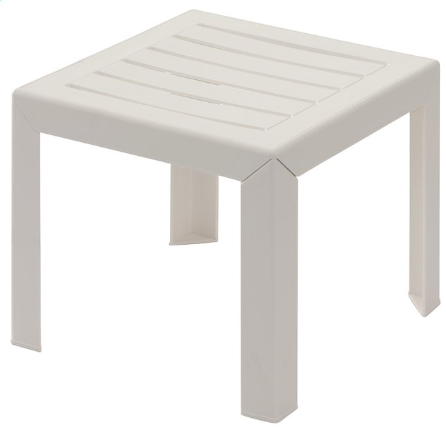 Image pour Grosfillex table basse Miami blanc 40 x 40 cm à partir de ColliShop