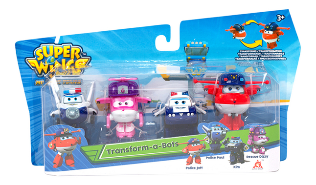 Afbeelding van Robot Super Wings Transform a Bots - 4 stuks from ColliShop