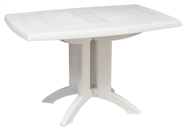 Grosfillex table de jardin Vega 118 blanc 120 x 80 cm