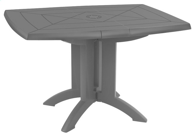 Image pour Grosfillex table de jardin Vega 118 anthracite 120 x 80 cm à partir de ColliShop
