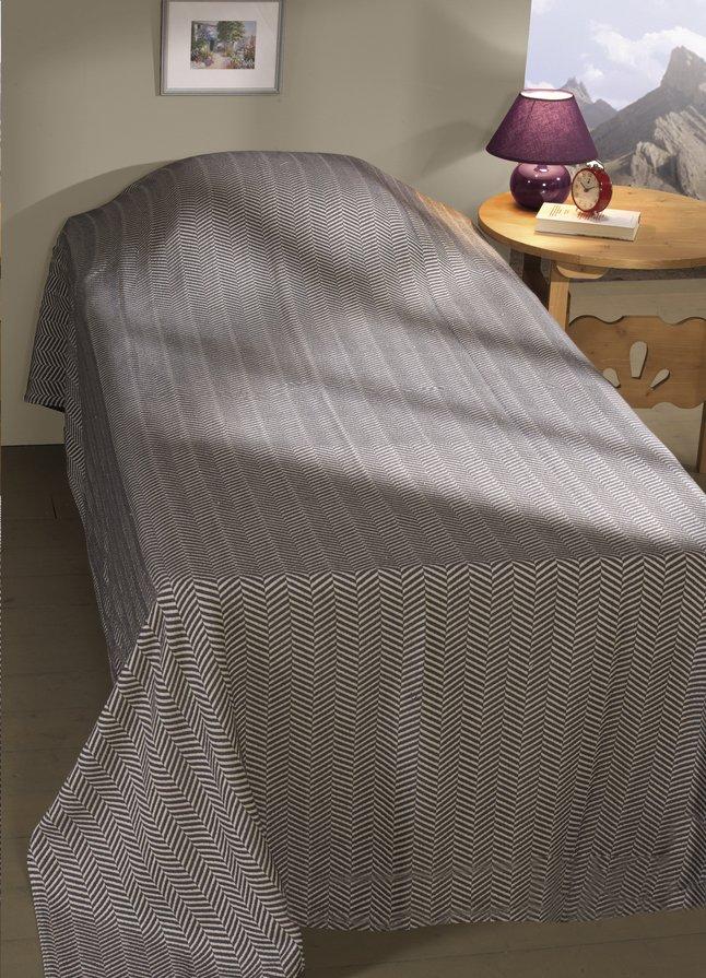 Image pour Couvre-lit Zala écru/gris à partir de ColliShop