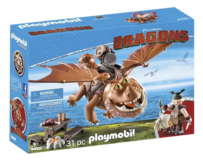 PLAYMOBIL Dragons 9460 Varek et Bouledogre