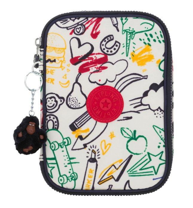 Afbeelding van Kipling pennenzak 100 Pens Doodle Play Bl from ColliShop