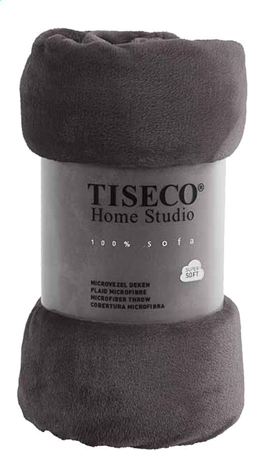 Afbeelding van Tiseco Home Studio Plaid grey microflanel B 130 x L 160 cm from ColliShop
