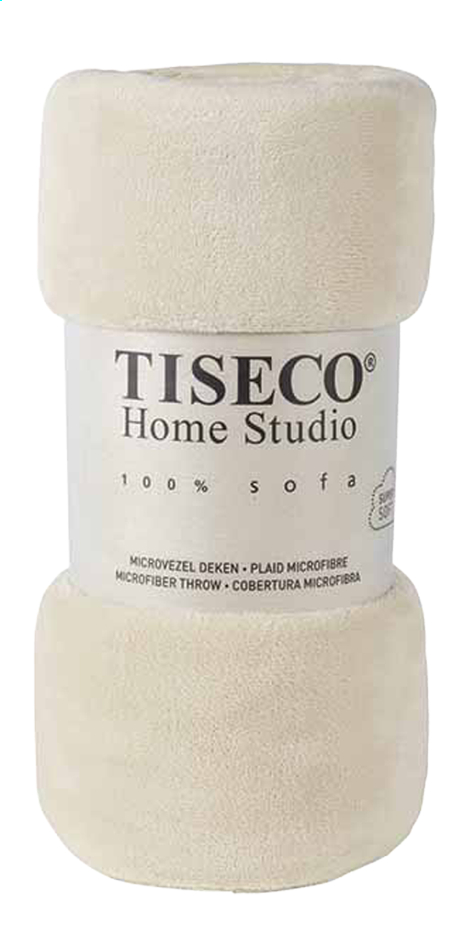 Afbeelding van Tiseco Home Studio Plaid ivory microflanel B 130 x L 160 cm from ColliShop