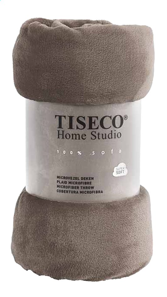 Afbeelding van Tiseco Home Studio Plaid taupe microflanel B 130 x L 160 cm from ColliShop
