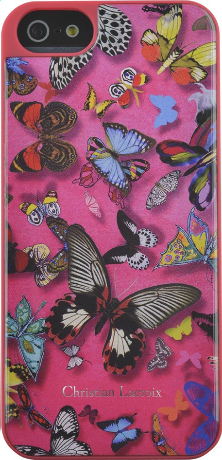 Afbeelding van Backcover voor iPhone 5/5S/SE Butterfly Christian Lacroix roze from ColliShop