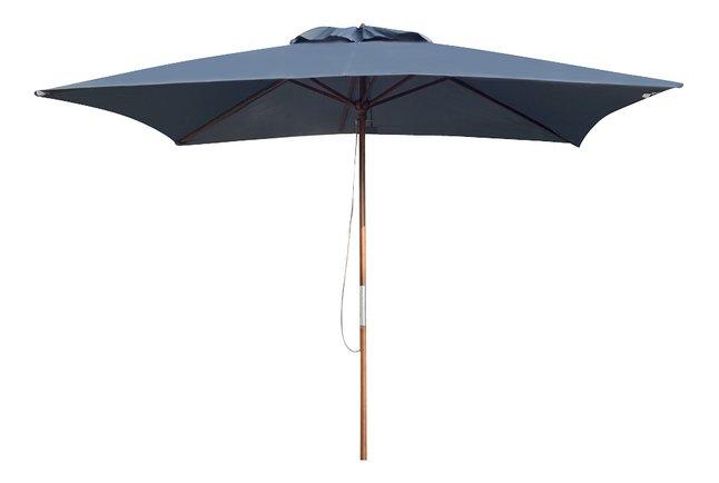 Parasol de luxe en bois FSC 3 x 2 m gris