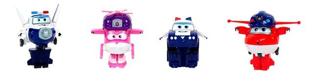 Robot Super Wings Transform a Bots - 4 stuks