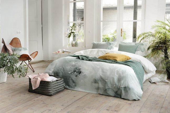 Image pour Walra Housse de couette Green blossom jade coton 140 x 240 cm à partir de ColliShop
