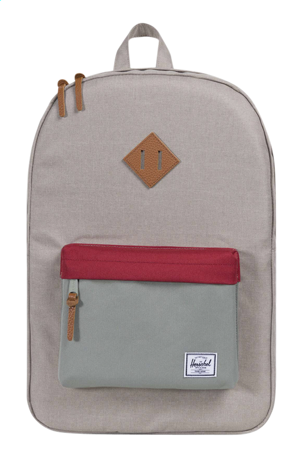 Image pour Herschel sac à dos Heritage Light Khaki cross/Shadow/Brick Red à partir de ColliShop